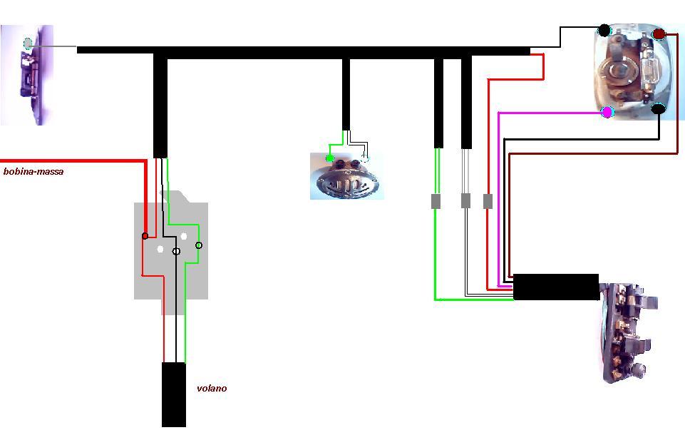Schema Elettrico Vespa Et3 : Schema impianto elettrico special tecnica generale