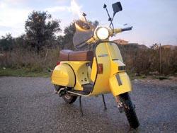 vespa px gialla