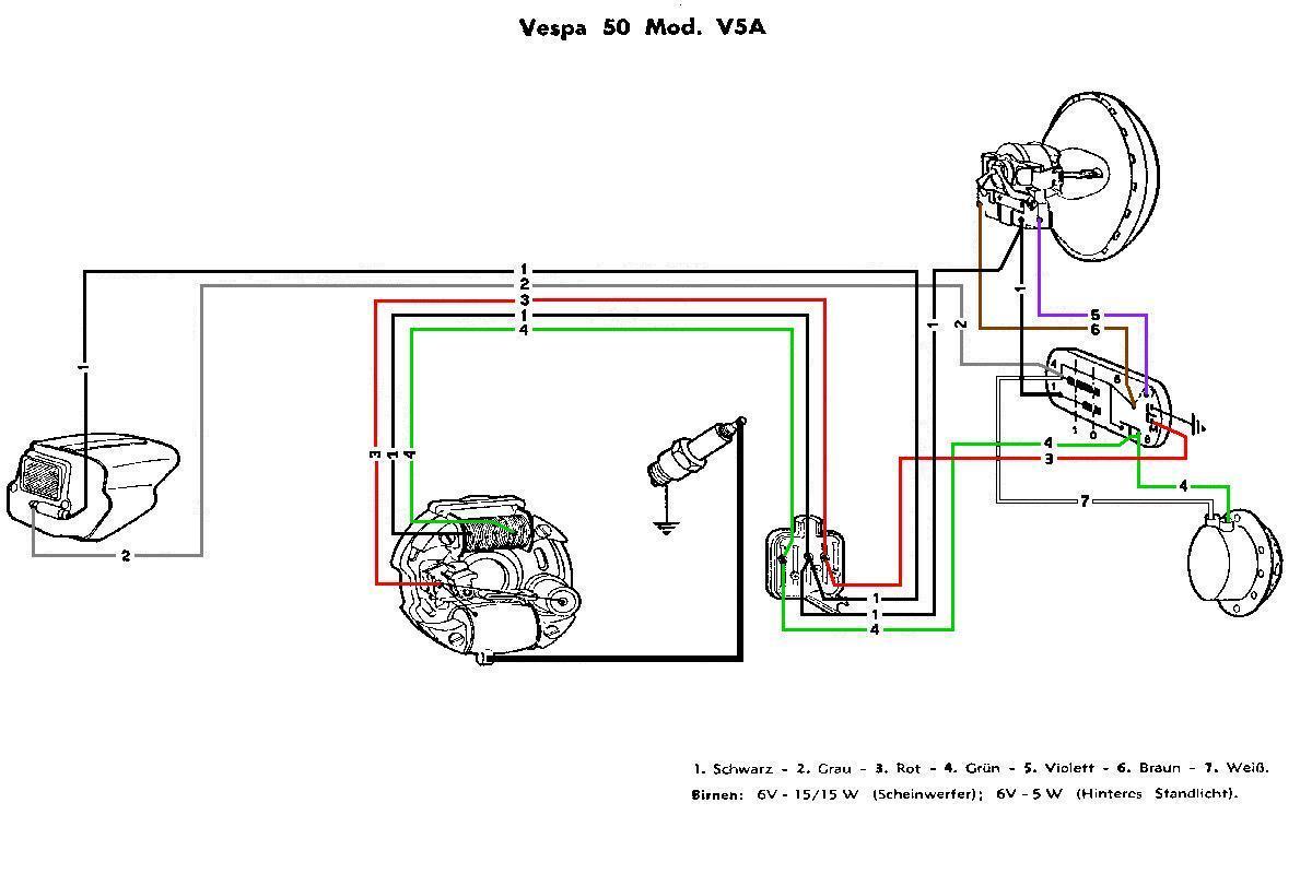 Schema Impianto Elettrico Per Vespa 50 Special : Adattare statore special su et elaborazioni telai