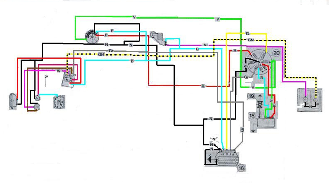 Schema Elettrico Vespa 50 Special : Statore hp su et come collegare i fili elaborazioni