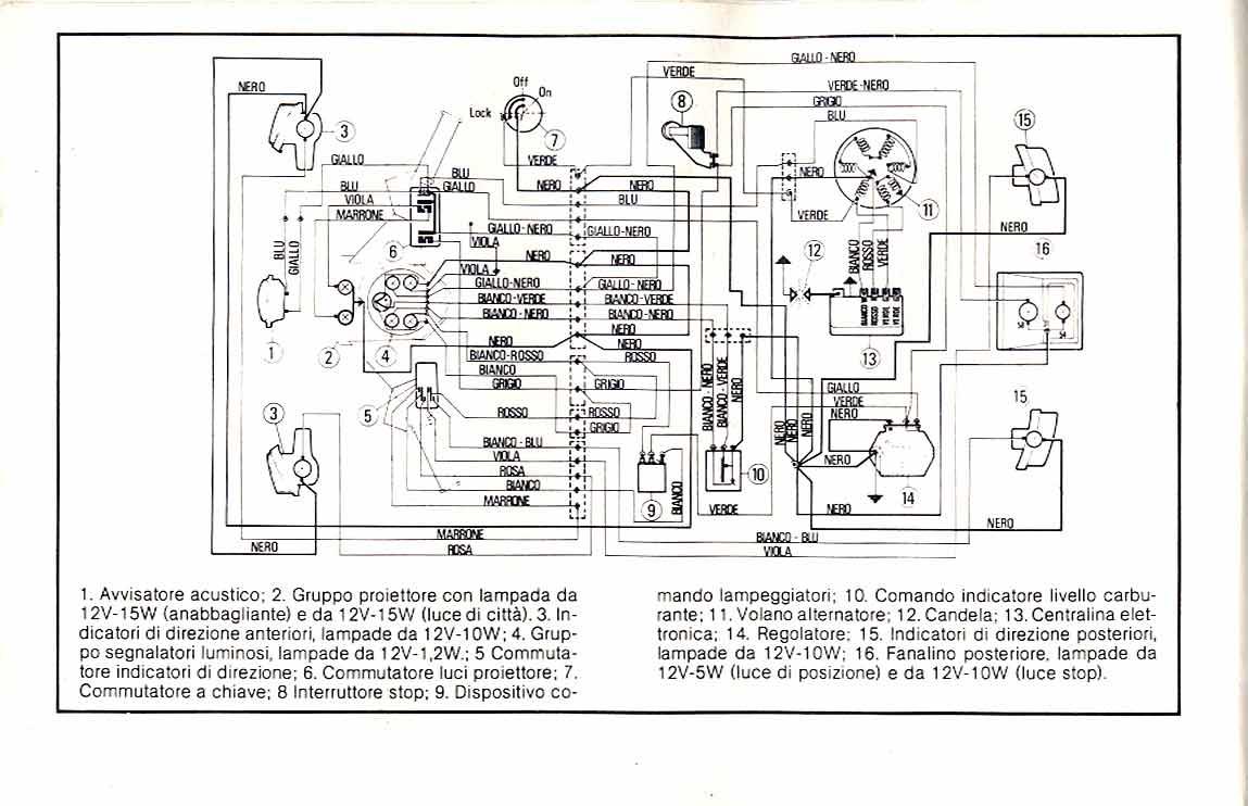Schemi Elettrici Vespa : Modifica impianto vespa special tecnovolt