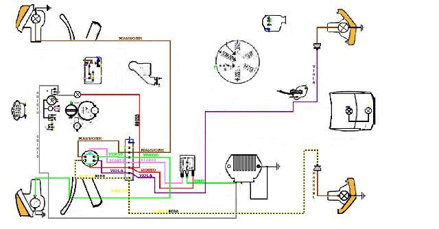 Schema Elettrico Vespa Px 125 : Impianto elettrico px tutto ok tecnica generale telai